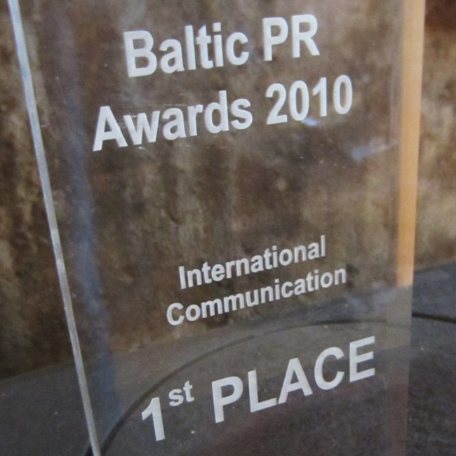 2010 | Baltic PR Awards 1st place